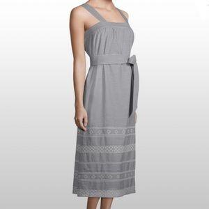 VINEYARD VINES | maxi dress black striped SZ 14